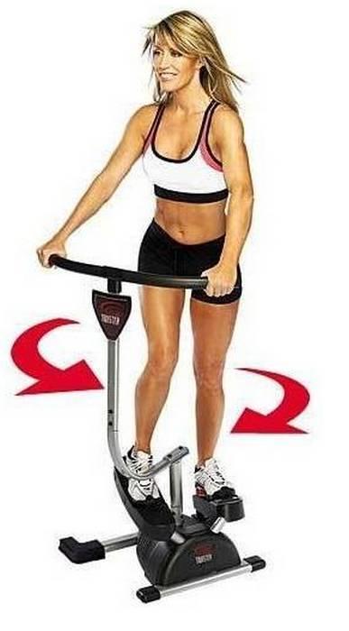 видео упражнение на тренажере кардио твистер